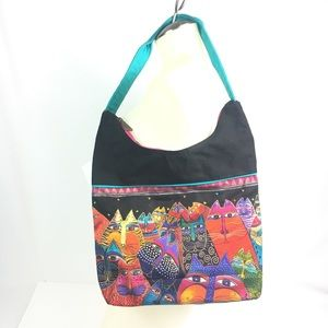 Laurel Burch cats Fantasticats Scoop Hobo Purse